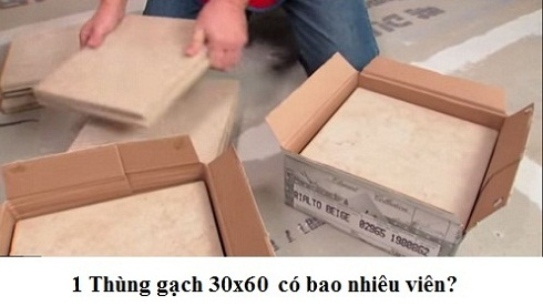 gạch 3-0x60 1 thùng bao nhiêu viên