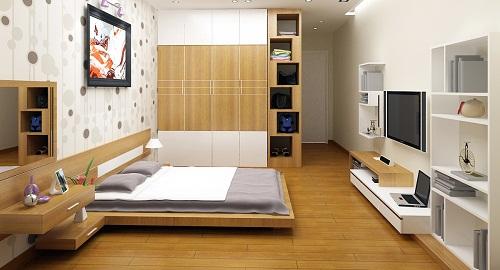 gach giả gỗ lát nền phòng ngủ 1