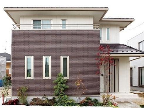 mẫu gạch ốp mặt tiền nhà 1