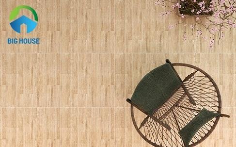gạch lát nền phòng khách giả gỗ