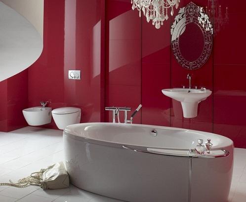 gạch ốp tường màu đỏ 1