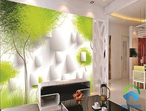 gạch ốp tường phòng khách 3D 3