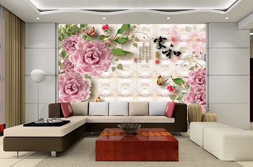gạch ốp tường phòng khách 3d 4