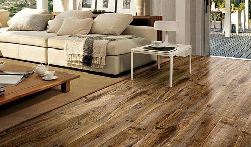 sàn gạch giả gỗ phù hợp với không gian nào