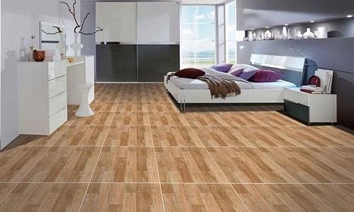 sàn gạch giả gỗ giúp dễ dàng vệ sinh
