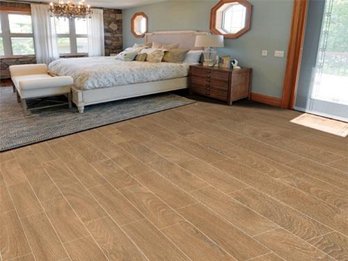 gạch lát nền đẹp giả gỗ cho phòng ngủ