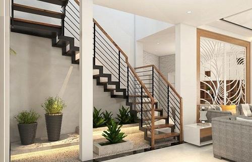 Học cách trang trí cầu thang 3 vế vừa Đẹp – vừa Sang lại Đơn giản