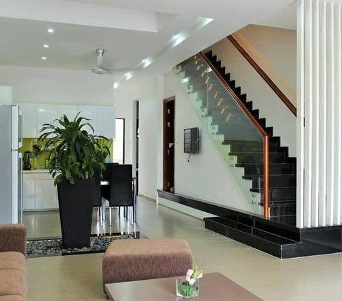 cầu thang nhà ống 2 tầng đơn giản nhất