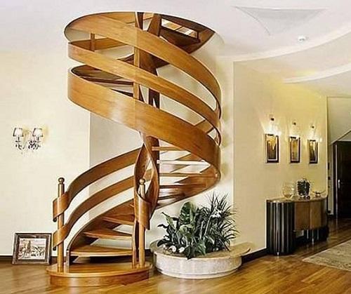 cầu thang nhà ống 2 tầng 5