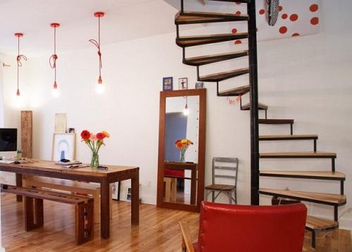 Mê mẩn TOP mẫu thiết kế cầu thang gỗ, sắt nhỏ gọn đẹp độc đáo